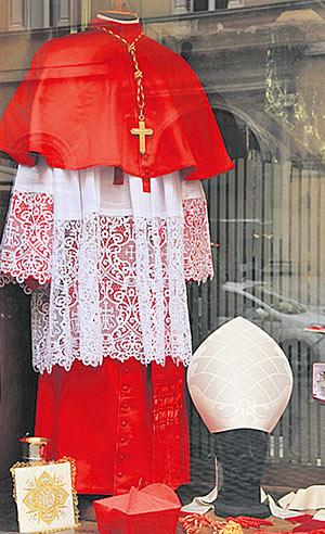 Bischof Kleidung Farbe